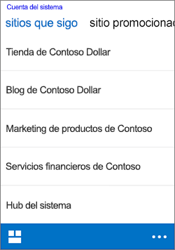 seguir sitios de iOS
