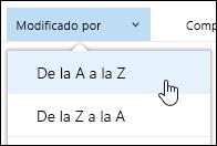 Ordenar vista de biblioteca de documentos en Office 365