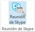 Botón Reunión de Skype