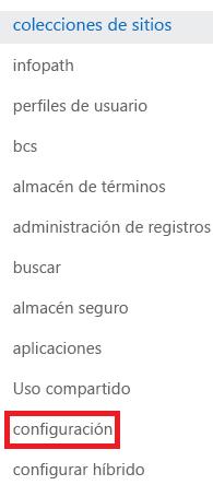 Captura de pantalla del panel de tareas Colecciones de sitios