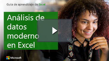 Mujer sonriente, Guía de aprendizaje para Excel