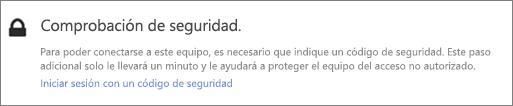 Notificación de interfaz de usuario de muestra del código de verificación para la solicitud de acceso de OneDrive