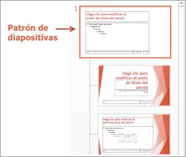 Seleccionar el patrón de diapositivas