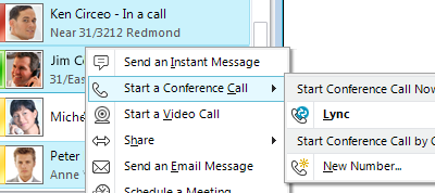 Iniciar una llamada de conferencia