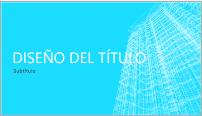 Ejemplo de una plantilla de diseño de PowerPoint