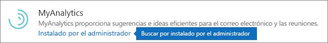 Complemento instalado por un administrador en el almacén de Outlook.