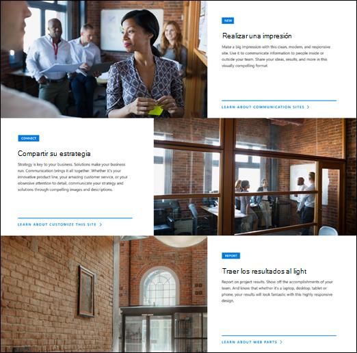 Elemento web de SharePoint héroe
