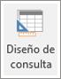 Icono de cinta de opciones de diseño de consulta