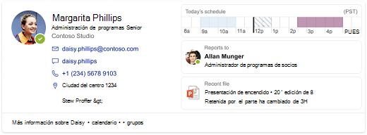 Captura de pantalla de un resultado para una persona
