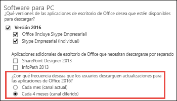 Actualizar el cliente de Skype Empresarial.