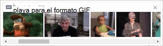 Lista de archivos GIF disponibles