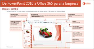 Miniatura de la guía para cambiar de PowerPoint 2010 a Office 365
