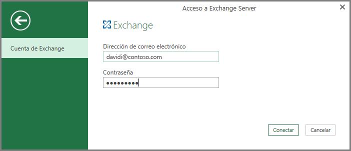 Credenciales de Exchange