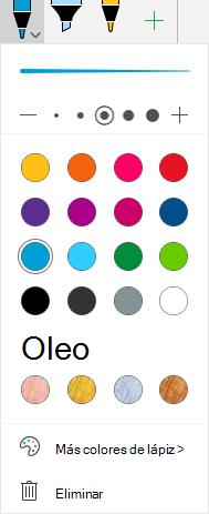 Colores de entrada de lápiz y efectos para dibujar con lápiz en Office en Windows Mobile