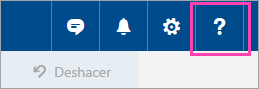 Una captura de pantalla del botón de menú Ayuda