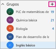 Panel de navegación izquierdo de Outlook en la web con el botón Crear resaltado