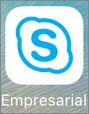 Icono de la aplicación Skype Empresarial para iOS