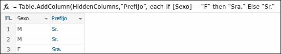 Fórmula de ejemplo