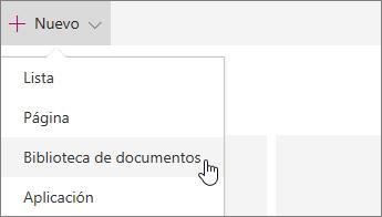 Menú nuevo en SharePoint Online