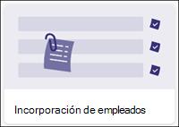 Plantilla de lista de incorporación de empleados