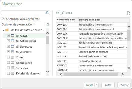 Ver & de la transformación (Power Query)