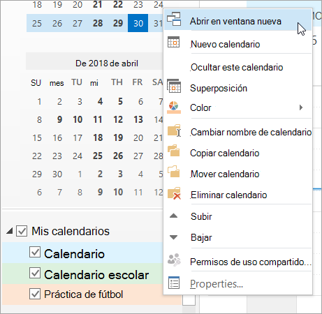 Ver Simultáneamente Varios Calendarios Outlook