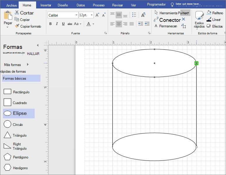 Dibujar líneas manualmente para completar la forma.