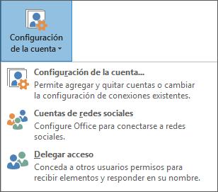 Captura de pantalla para agregar un delegado en Outlook