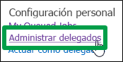 Administrar delegados
