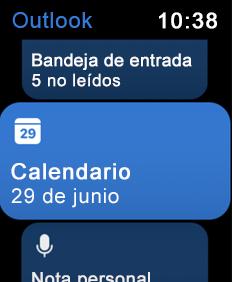 Muestra la pantalla de Apple Watch