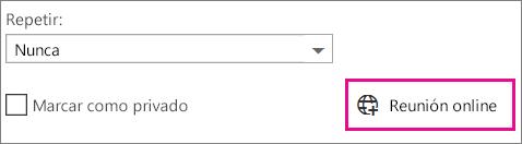 Reunión en línea de Outlook Web App