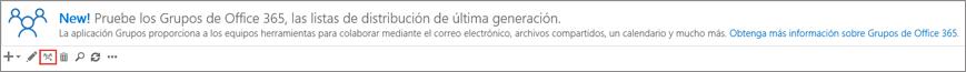 Haga clic o puntee la actualización al icono de grupos de Office 365