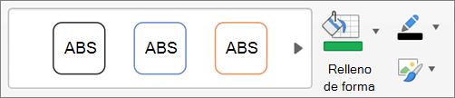Haga clic en relleno de forma, contorno de forma y efectos de forma