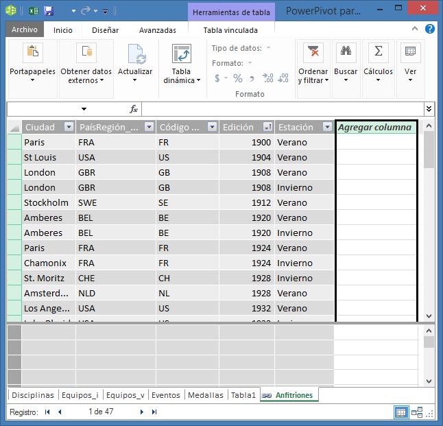 Utilizar Agregar columna para crear un campo calculado mediante DAX
