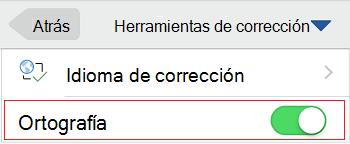Control de ortografía