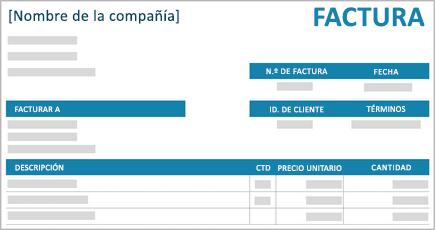 Imagen conceptual de una factura de una pequeña empresa