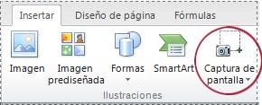 Botón de captura de pantalla