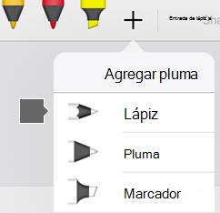 La galería de lápices de Office para iPad y iPhone incluye una textura con lápiz