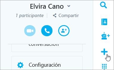 Una captura de pantalla del botón nuevo de chat