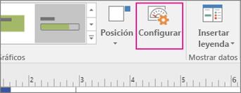 Pestaña Datos, botón Configurar