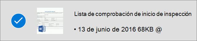 Archivo OneDrive marcado para sin conexión