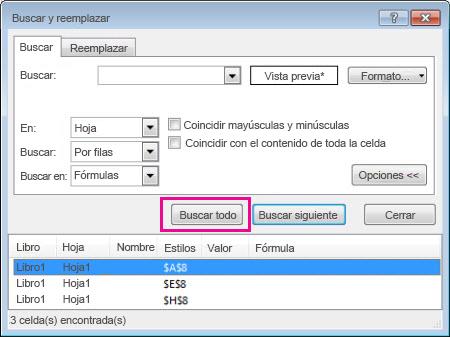 Buscar celdas combinadas - Excel