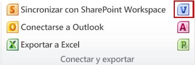 El botón Crear diagramas de Visio en el grupo Conectar y exportar de la pestaña Lista