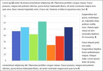 Ejemplo de un gráfico de Excel pegado en un documento de Word