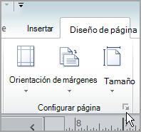 Selector Configurar página