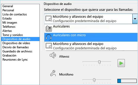 Captura de pantalla de equipo de audio