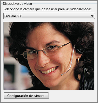 Captura de pantalla de opciones de vídeo