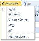 Usar el comando Autosuma de Contar números