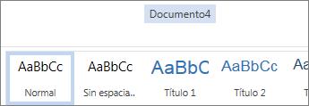 Cambiar nombre en Office Online