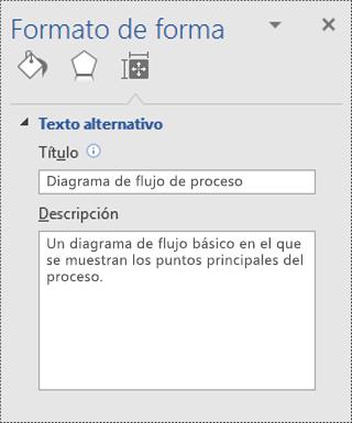 Cuadro de diálogo Formato de forma en Visio.